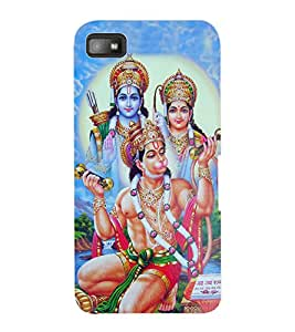 ColourCraft Lord SiyaRam and Hanuman Design Back Case Cover for BLACKBERRY Z10