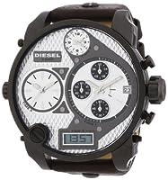 Reloj Diesel DZ7126 y digital de cuarzo para hombre con correa de piel, color marrón de Diesel
