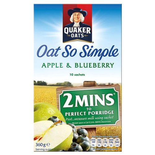 Quaker Oats Oatso simple pomme et 360g de bleuets