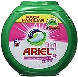 Ariel 3en1 Pods - Detergente En Cápsulas, Sensaciones, Limpieza Increíble, Limpia, Quita Manchas,...