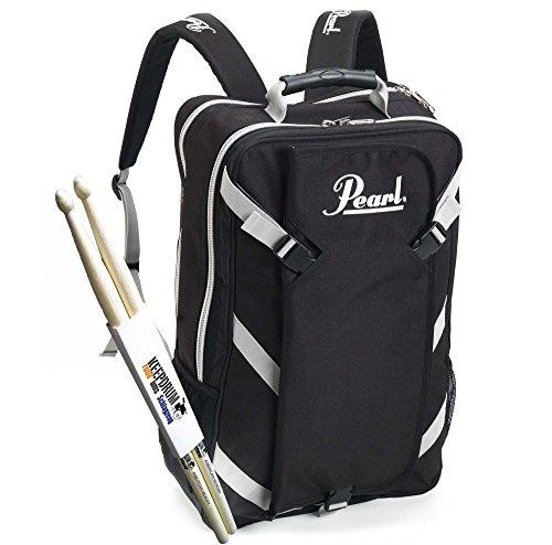 Pearl PDBP-1 Rucksack mit abnehmbarer Stick-Bag + KEEPDRUM Drumsticks