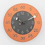 JHUEN Wanduhrdekorative Uhr Badezimmer Wanduhr 12 Zoll/Modern Minimalist No Ticking Wanduhr Quarzuhr 26