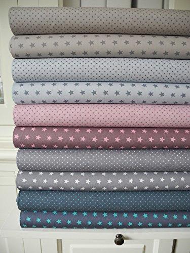 lottashaus-10x-stoff-beige-grau-rosa-mint-stoffpaket-no34-stoffe-patchwork-sterne-tupfen-shabby-chic