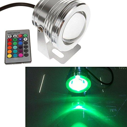 Preisvergleich Produktbild PolarLander 2pcs 7 Farben 10W 12V RGB LED Unterwasserbrunnen-Licht 1000LM Swimmingpool-Teich-Fisch-Behälter-Aquarium LED helle Lampe IP67 imprägniern