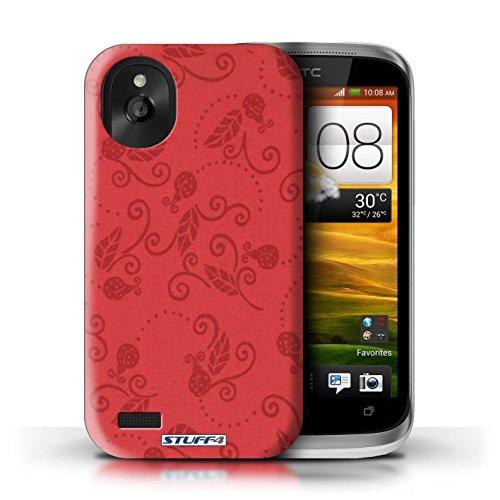 Kobalt® Imprimé Etui / Coque pour HTC Desire X / Pêche conception / Série Motif Coccinelle Rouge