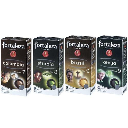 Café FORTALEZA - Surtido de Cápsulas de Café Orígenes Compatibles