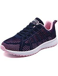 UMmaid Mujer Zapatos Deportivos Plano Zapatillas de Running Deportes para Mujer Gimnasio Correr