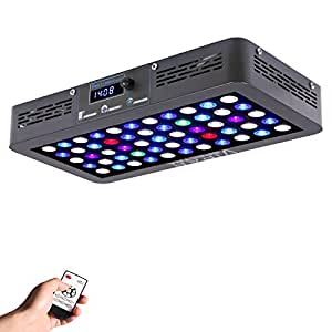 VIPARSPECTRA Timer Control 165W LED Aquarium Light Dimmable Full Spectrum for Coral Reef Growing Fish Keeping Tank