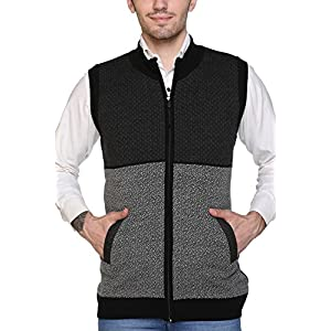 aarbee Sleeveless Zipper Sweater Men