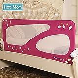 Hot Mom Barriera Letto bimbi, portatile letto protezione pieghevole universale 150cm rosa