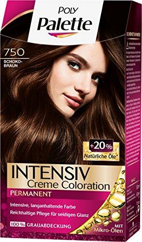 Palette Intensiv Creme Coloration 750 Schokobraun Stufe 3, 3er Pack (3 x 115 ml)