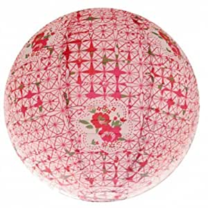 Around The Wall BJLIBRO013 Liberty Rose Suspension Boule Japonaise Lampion Papier de Riz Rose 20 x 20 x 20 cm