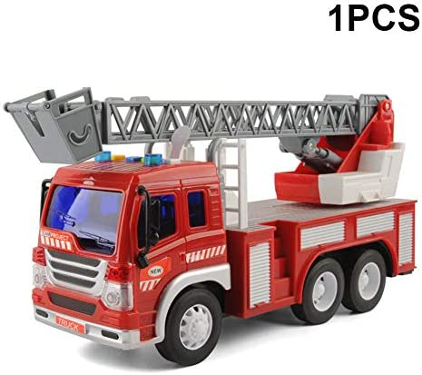 Acutty 1/2Pcs Fire Truck Engine Engine Engine Toy Water Tender Fire Rescue Ladder Truck   Light Sound   Acheter  ada73c