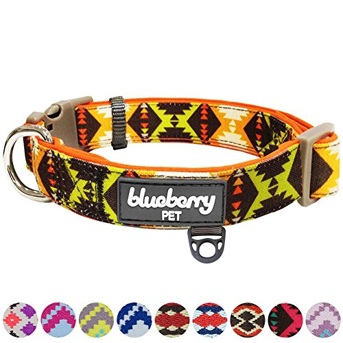 Blueberry Pet Soft & Comfy Vintage Tribal Pattern Adjustable Neoprene...