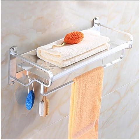 MEIMEI®Hotel asciugamano alluminio ispessito bagno spazio rack