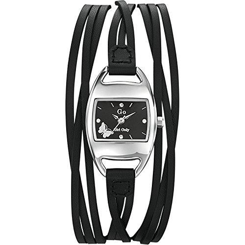 Go Girl Only Damen-Armbanduhr Analog Leder schwarz 697000