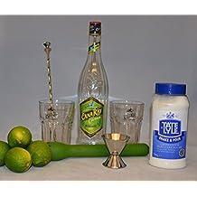 Caipirinha Caipi Cocktail Komplett-Set Cana Rio Cachaca + original Gläser Glas
