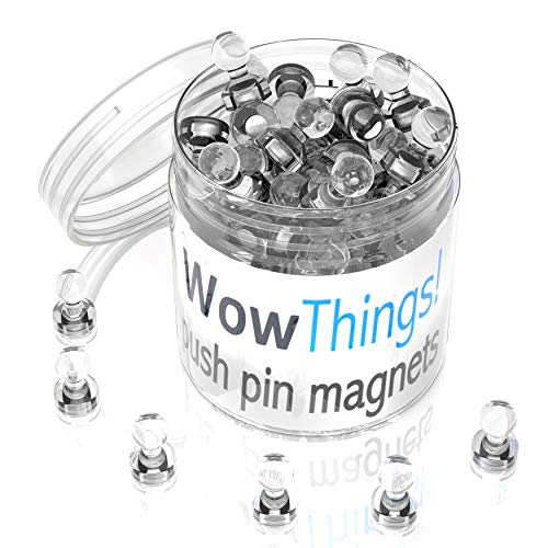 Magnetische Magnete zum Andrücken, 28 Stück, transparent, für Küche, Kühlschrank, kleine Kühlschrankmagnete stark für Notizen, Bilder, Home Office Dekor, magnetische Whiteboard-Magnete - Mini-kühlschrank Transparent