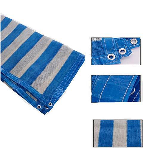 Voile D'Ombrage Filet Protection Solaire À Filet pour Parasol Sunblock Shade Bord Rayé À 6 Broches Grand Format Parasol Multi-Fonction Petit Format Haiming (Couleur : Bleu, Taille : 4 * 4m)