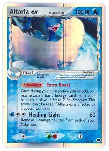 Pokemon EX Dragon Frontiers #90 Altaria ex Holofoil Card [Toy] [Toy]