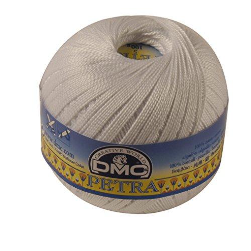 Filo DMC Petra, 100% cotone, colore: bianco, misura: 8