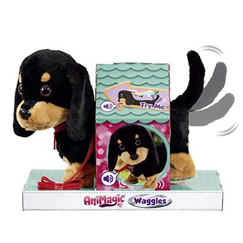 Animagic Waggles, mi Perrito Salchicha. Ladra y anda como un Perro de Verdad, Color Negro-marrón (256655)
