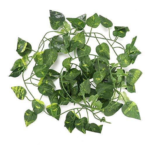 Bicaquu Künstliche gefälschte Blätter hängen Reben 6.89ft Lange Rebe Reptil Lebensräume Dekor(01)