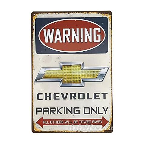 66retro Chevrolet Parking Only, Vintage Retro Metall blechschild, Wand Deko Schild, 20cm x 30cm