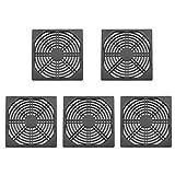 Demiawaking 120mmx120mm Aluminium Staubdicht Abdeckung Staubfilter für PC Kühlung Chassis Lüfter (5Stk.)