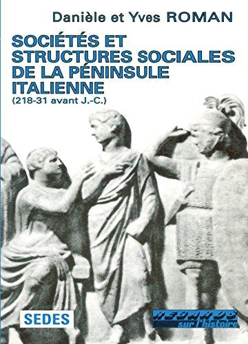 Sociétés et structures sociales de la péninsule italienne, 218-231 av J.-C.