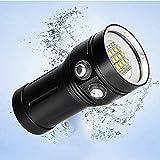 huichang Tauchlampe Unterwasser Taschenlampe, Super Hell 12000LM 100m Wasserdicht LED TaucherLampe...