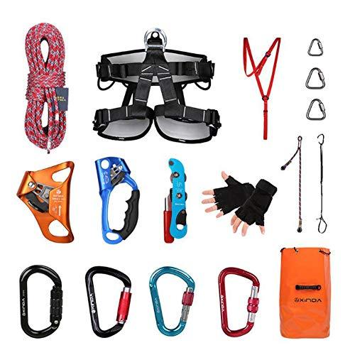 GYHHHM Kletterseil-Set, Outdoor-Equipment Gym Kletter-Rope Kletterschutzseil Heavy Duty Rope 10m,a,10m