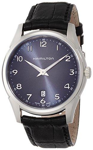 HAMILTON MEN'S 42MM CALFSKIN BAND STEEL CASE SWISS QUARTZ WATCH H38511743