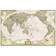 World Executive, Pacific Centered, enlarged & tubed Wall Maps World (Reference - World)