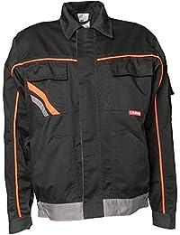 Planam Bundjacke Visline V1, Größe 56, schwarz / orange / zink, 2411056