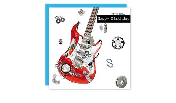 Happy Birthday Guitar Greeting Card