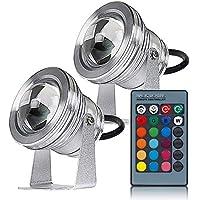 Luz de baño LED bajo el Agua 10Wrgb Fuente de Cambio de Color Colorido Fuente de Piscina Impermeable al Aire Libre