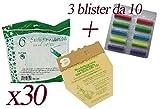 Sacs en papier naturel + Blister de parfums multifragrances pour aspirateur balai...