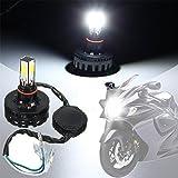 #6: EASY4BUY motorcycle Bike H4 H6 BA20D Hi/Lo 12V COB LED Headlamp Headlight Bulb For-Royal Enfield Himalayan