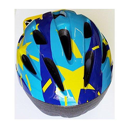 Casco caschetto regolabile Blu SPORT ONE junior Misura M 50 - 52 cm. pattini bici skate monopattino