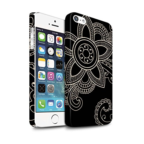 STUFF4 Matte Snap-On Hülle / Case für Apple iPhone 7 Plus / Blume/Schwanz Muster / Henna Tätowierung Kollektion Gänseblümchen