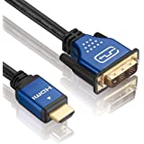 deleyCON Premium HQ HDMI zu DVI Kabel High Speed - 5m] - 3D Ready - HDMI auf DVI Adapterkabel [5 meter]