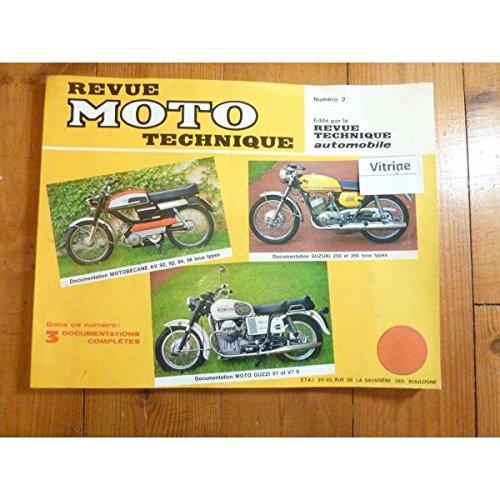 Rmt- Revues Techniques Moto - Av 250 350 V7 Revue Technique moto Guzzi Motobecane Suzuki Etat - Bon Etat