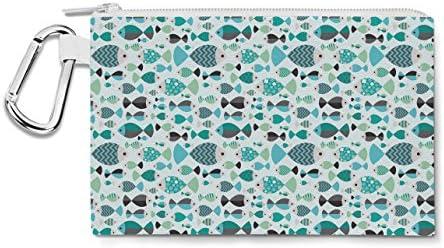 Famille de poissons sur toile Zip Zip Zip Pouch – Multi Purpose Trousse Sac en 6 tailles Small Canvas Pouch 7x5 inch Green B01BVHQYGY | à Prix Réduits  4cbfca