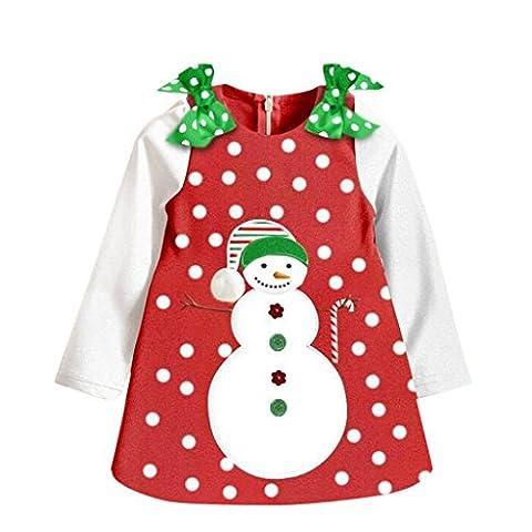 Weihnachten Babys Kleidung Christmas Party Sankt Langen Ärmeln Tutu Kleid