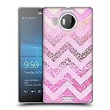 Head Case Designs Ufficiale Monika Strigel Muffin Rosa Chevron Strano Cover Morbida In Gel Per Microsoft Lumia 950 XL