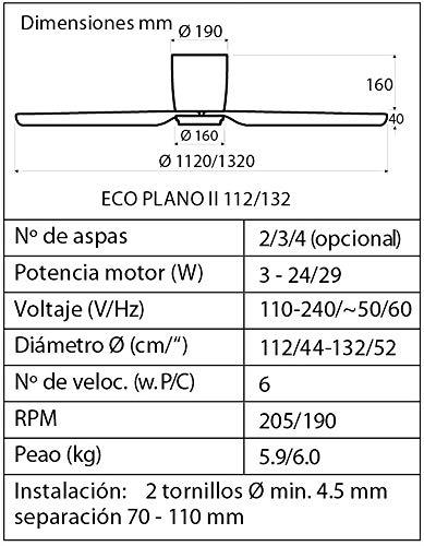 511kVBD9oXL - CasaFan Ceiling fan Eco Plano II 132 BN-SL 313280
