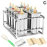Bulary Edelstahl 10Stück DIY Eis Popsicle Form Eis Form und selbstgemachte ideal für Innen- und...