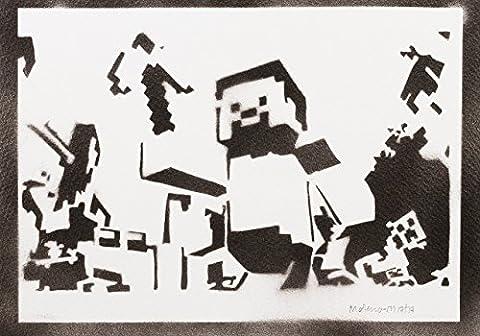 L Officiel Art - Minecraft Handmade Street Art - Artwork -
