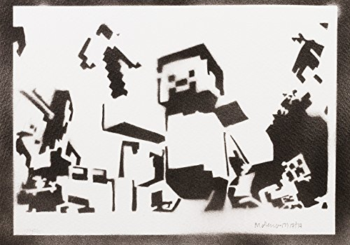 Minecraft Hecho A Mano - Handmade Street Art Poster